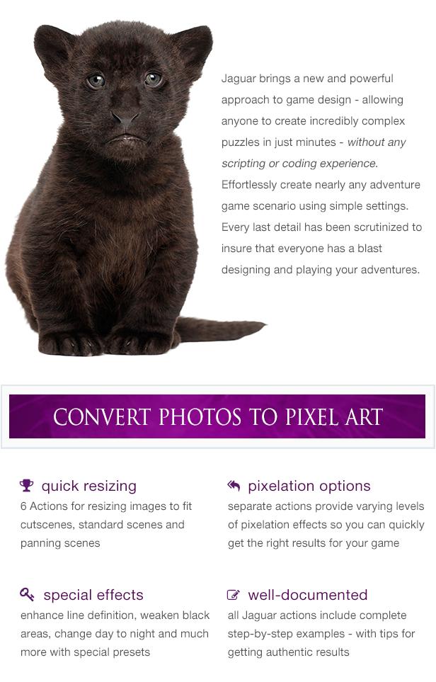 Jaguar Game Engine Addon - Photoshop Art Actions